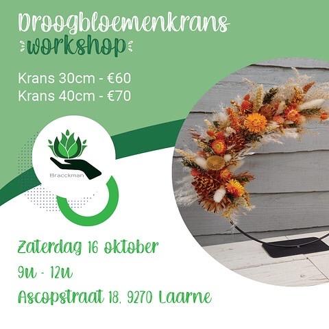 Workshop droogbloemenkrans